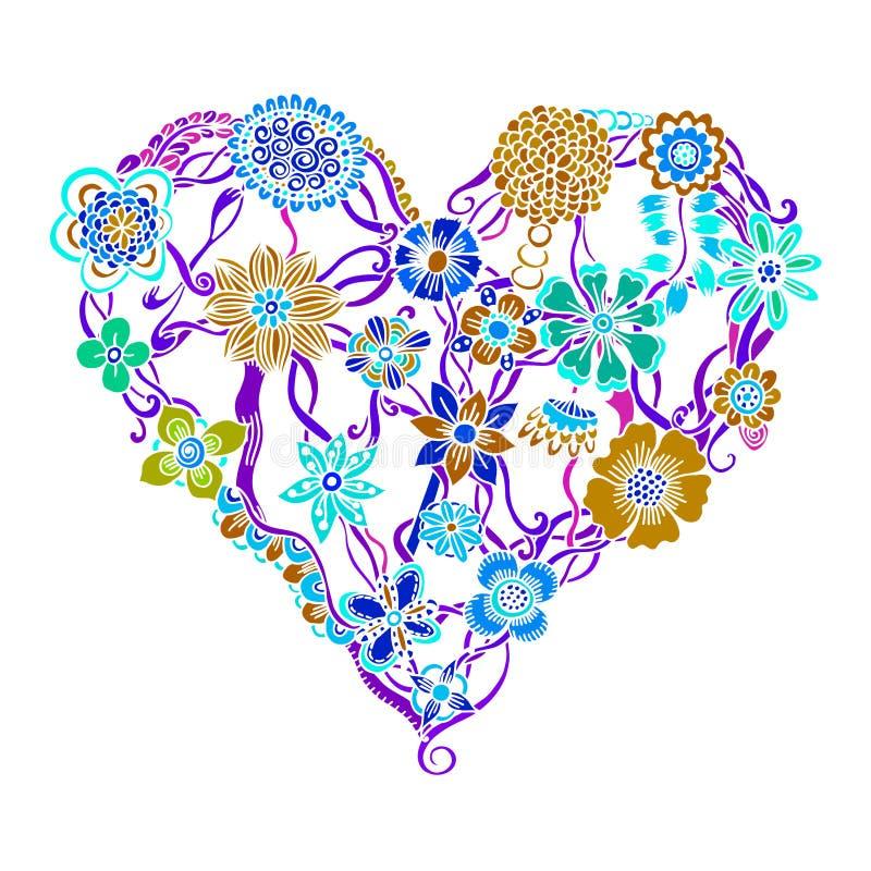 Φωτεινή καρδιά λουλουδιών ελεύθερη απεικόνιση δικαιώματος