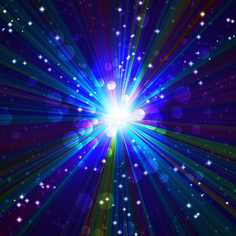 Φωτεινή μπλε λάμψη διανυσματική απεικόνιση