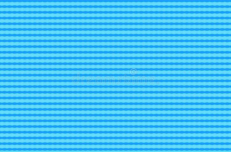 Φωτεινή μπλε περίληψη που επαναλαμβάνει το κυματιστό σχέδιο λωρίδων απεικόνιση αποθεμάτων