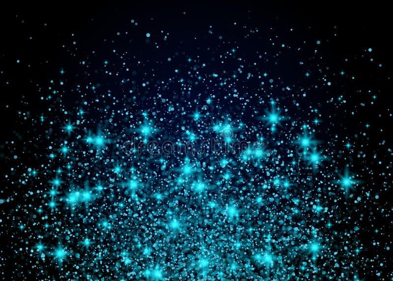 Φωτεινή μπλε έκρηξη αστεριών υποβάθρου σπινθηρίσματος ελεύθερη απεικόνιση δικαιώματος