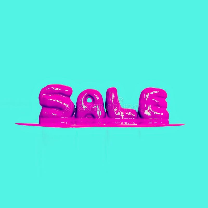 Φωτεινή ρόδινη πώληση κειμένων ύφους στοκ εικόνα με δικαίωμα ελεύθερης χρήσης