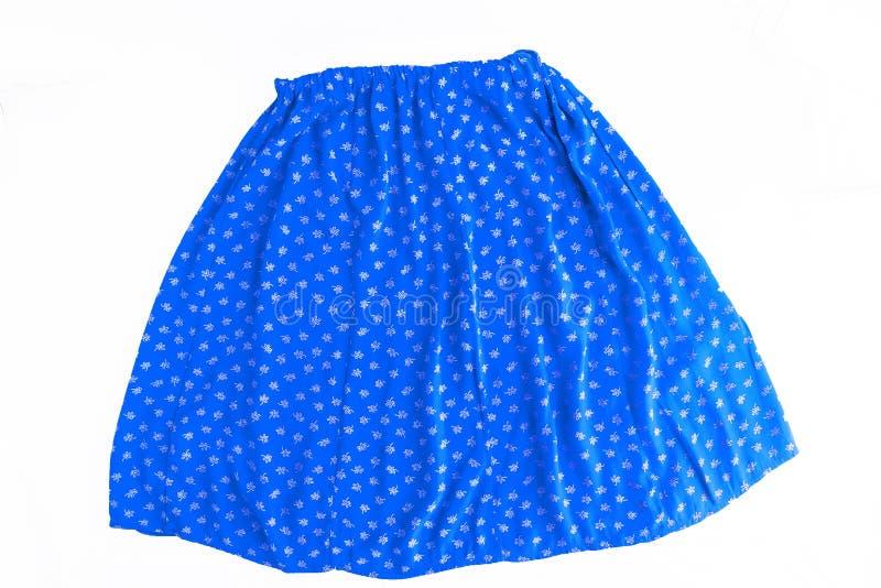 Φωτεινή χρωματισμένη μοντέρνη θερινή floral φούστα για τις γυναίκες/κορίτσι, στοκ φωτογραφία