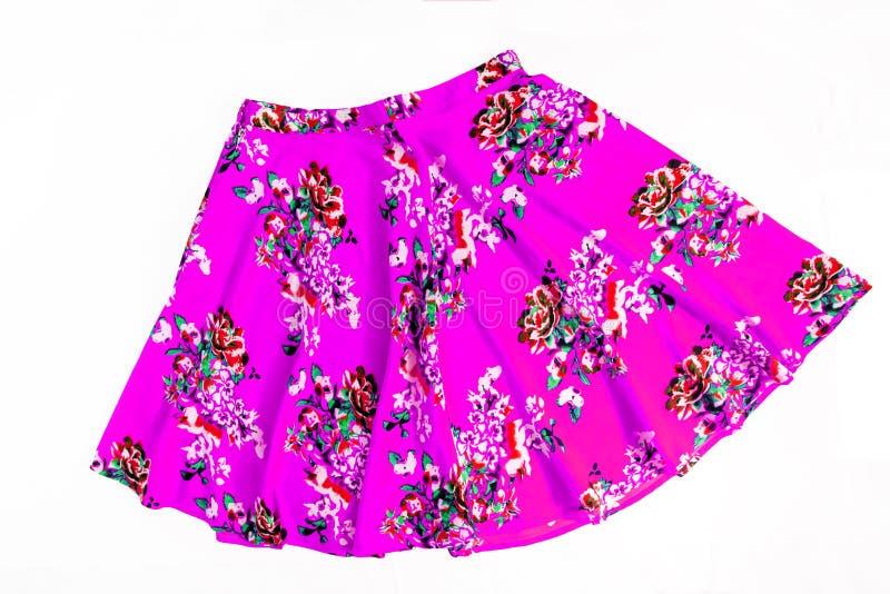 Φωτεινή χρωματισμένη μοντέρνη θερινή floral φούστα για τις γυναίκες/κορίτσι, στοκ φωτογραφίες με δικαίωμα ελεύθερης χρήσης