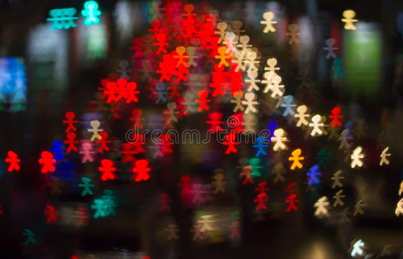 Φωτεινοί κύκλοι από τους προβολείς αυτοκινήτων ` s στο defocuse στοκ εικόνα με δικαίωμα ελεύθερης χρήσης