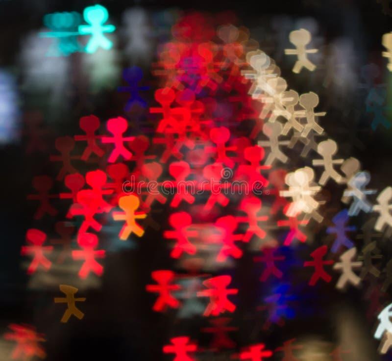 Φωτεινοί κύκλοι από τους προβολείς αυτοκινήτων ` s στο defocuse στοκ φωτογραφία με δικαίωμα ελεύθερης χρήσης