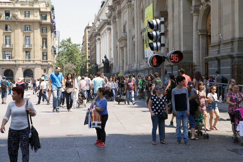 Φωτεινοί σηματοδότες στο Σαντιάγο, Χιλή στοκ φωτογραφία με δικαίωμα ελεύθερης χρήσης