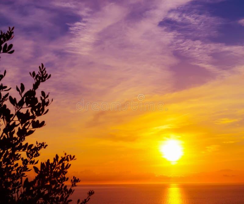 Φωτεινός ήλιος πέρα από τη θάλασσα στοκ φωτογραφία με δικαίωμα ελεύθερης χρήσης