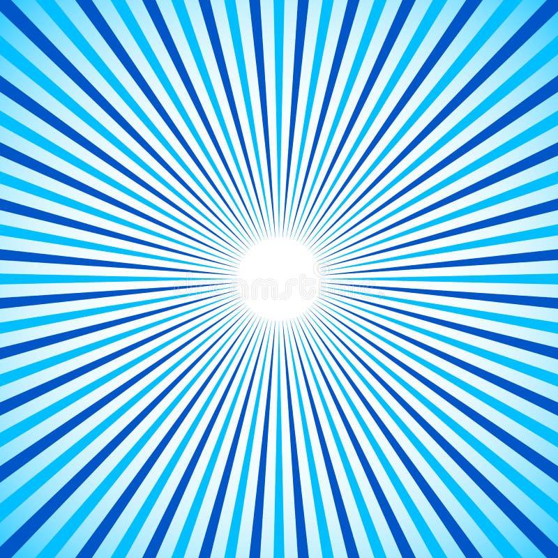 Φωτεινός ζωηρόχρωμος ακτινωτός, ακτινοβολώντας τις γραμμές BA Starburst/ηλιοφάνειας απεικόνιση αποθεμάτων