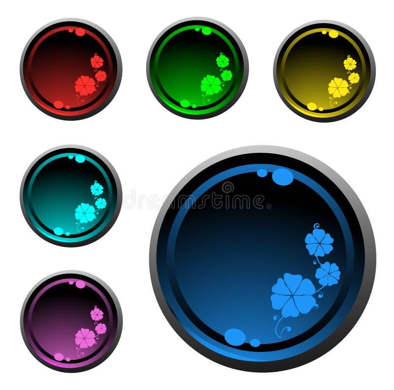 φωτεινός κύκλος κουμπιώ&nu απεικόνιση αποθεμάτων