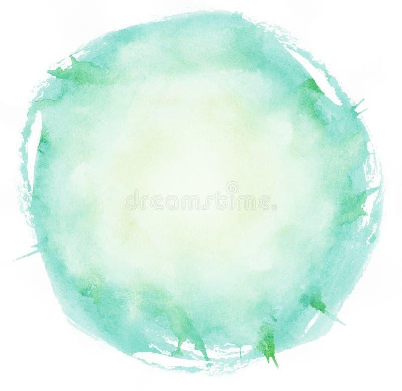 Φωτεινός κύκλος κτυπημάτων βουρτσών watercolor διανυσματική απεικόνιση