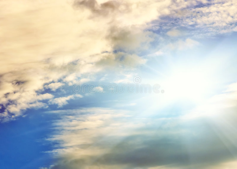 φωτεινός ουρανός στοκ φωτογραφία