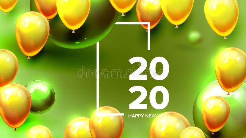 Φωτεινός προσκαλέστε το διάνυσμα εμβλημάτων καλής χρονιάς καρτών ελεύθερη απεικόνιση δικαιώματος