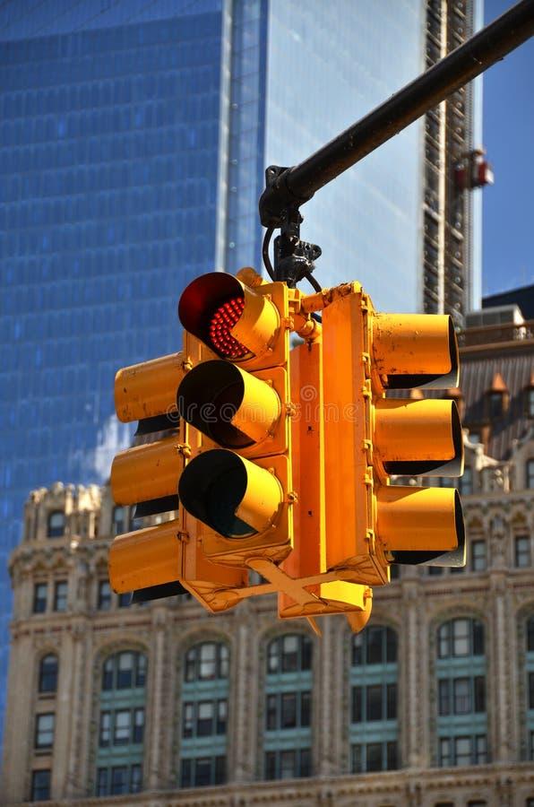 Φωτεινός σηματοδότης. NYC στοκ φωτογραφίες