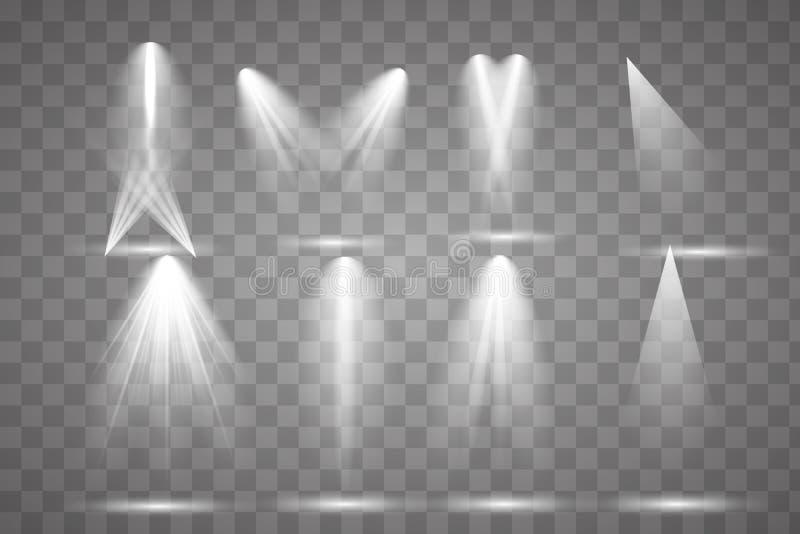 Φωτεινός φωτισμός με τα επίκεντρα ελεύθερη απεικόνιση δικαιώματος