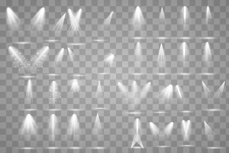 Φωτεινός φωτισμός με τα επίκεντρα διανυσματική απεικόνιση