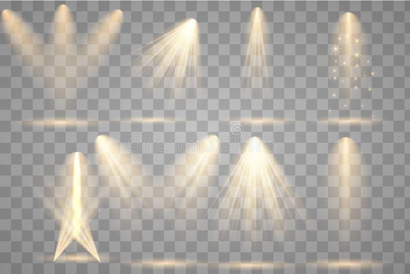 Φωτεινός φωτισμός με τα επίκεντρα απεικόνιση αποθεμάτων