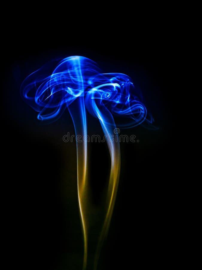 Φωτεινός χρωματισμένος καπνός στοκ εικόνες με δικαίωμα ελεύθερης χρήσης