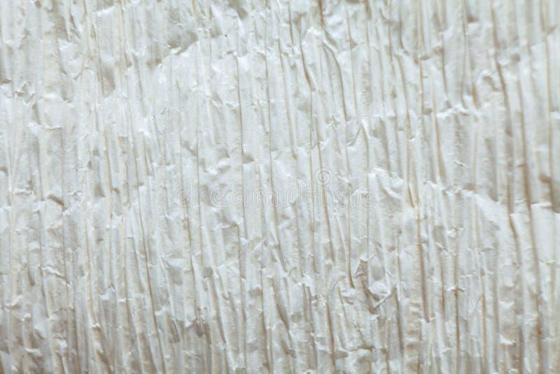 Φωτεινός crepe στενός επάνω υποβάθρου σύστασης της Λευκής Βίβλου στοκ εικόνες