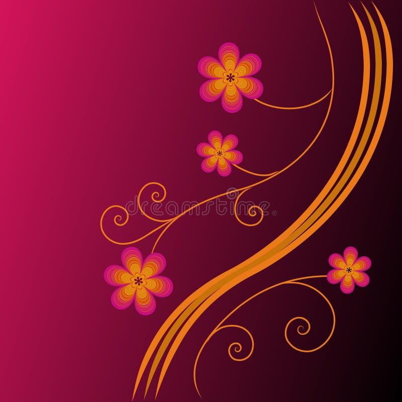 φωτεινός floral ανασκόπησης διανυσματική απεικόνιση