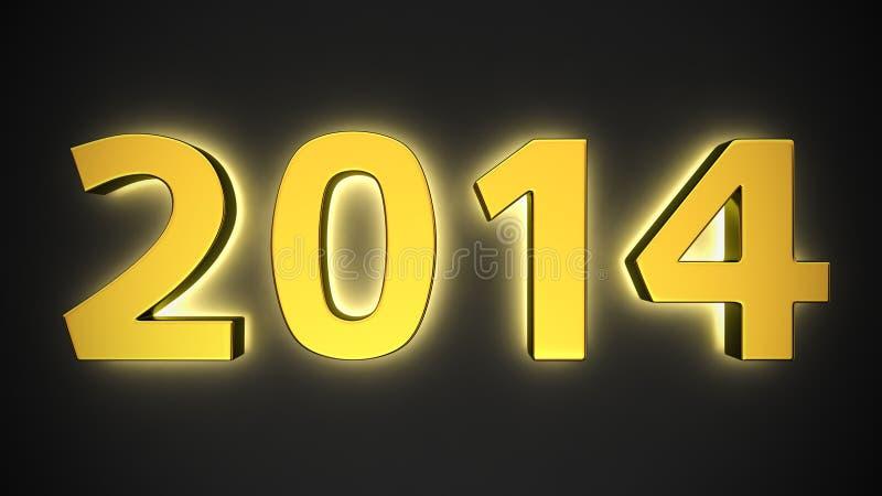 Φωτεινό έτος του 2014 διανυσματική απεικόνιση