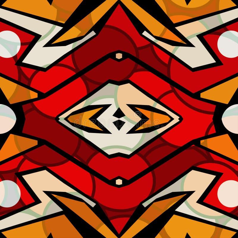 Φωτεινό αφηρημένο γεωμετρικό σχέδιο διανυσματική απεικόνιση