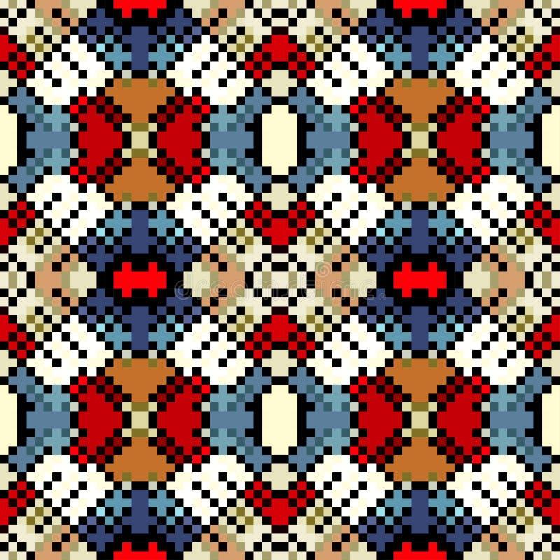 Φωτεινό αφηρημένο γεωμετρικό υπόβαθρο των χρωματισμένων εικονοκυττάρων διανυσματική απεικόνιση