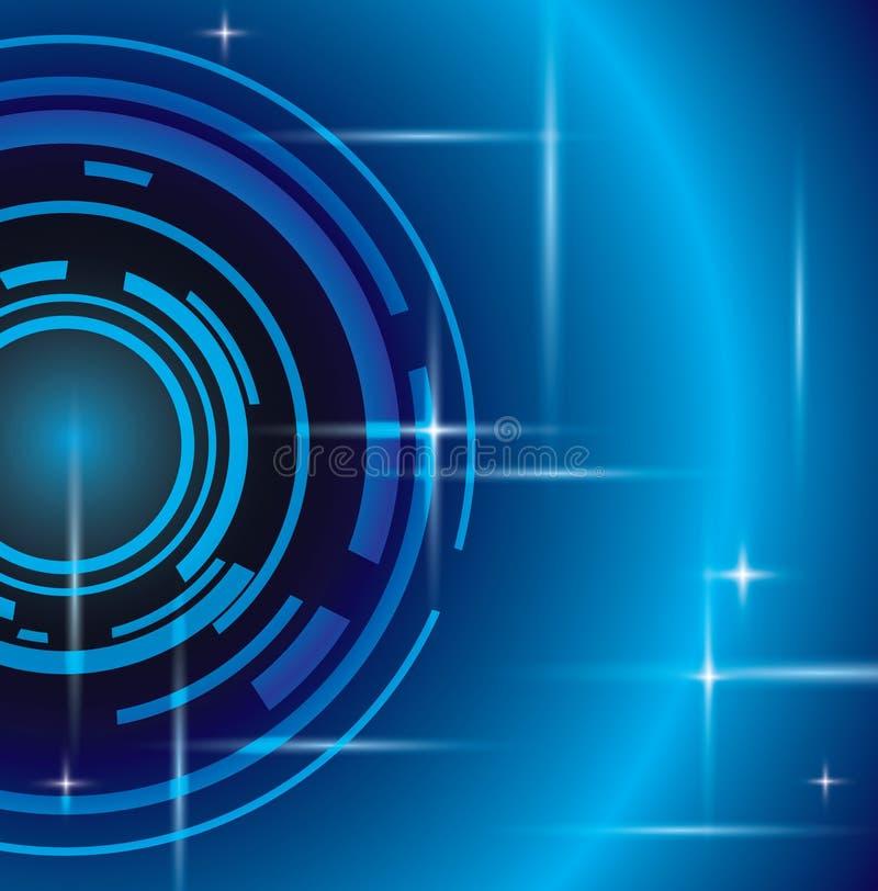 Φωτεινό αφηρημένο μπλε υπόβαθρο ελεύθερη απεικόνιση δικαιώματος