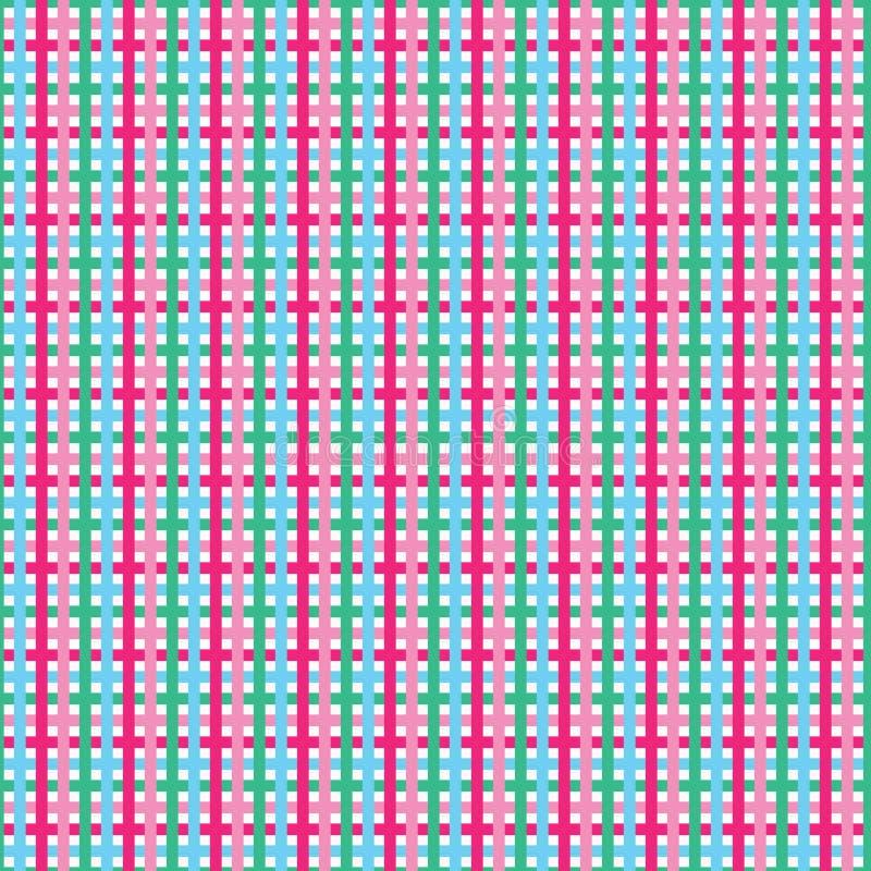 Φωτεινό γεωμετρικό άνευ ραφής σχέδιο ελέγχου Gingham το καρό τυπώνει παντ ελεύθερη απεικόνιση δικαιώματος