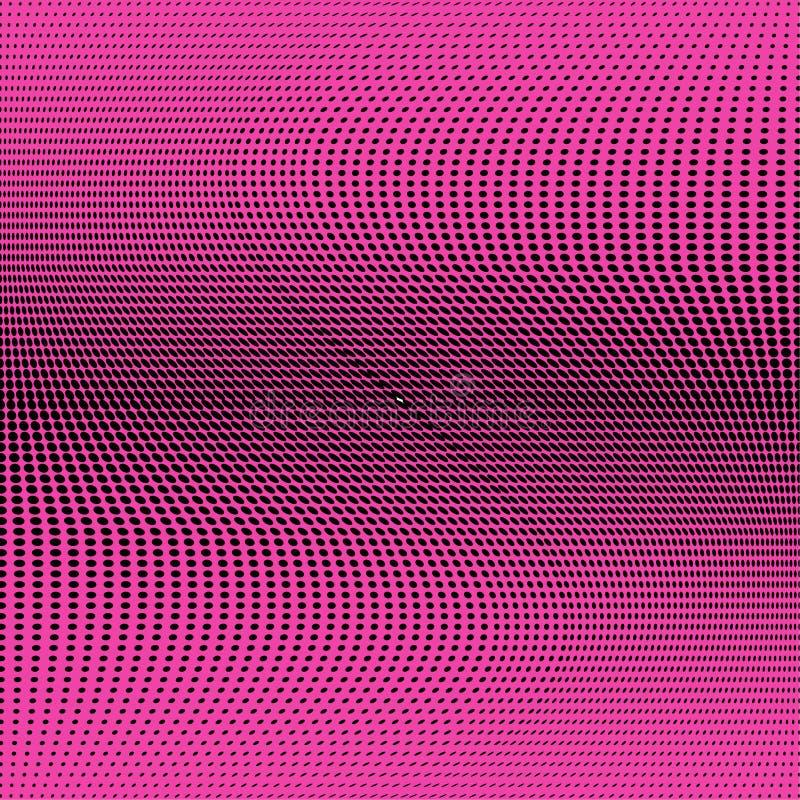 Φωτεινό γεωμετρικό πορφυρό μαύρο σχέδιο ημίτονων Αφηρημένη διανυσματική απεικόνιση με τα σημεία διανυσματική απεικόνιση