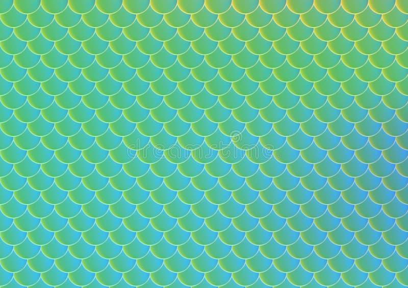 Φωτεινό διανυσματικό άνευ ραφής σχέδιο κλίμακας ψαριών διανυσματική απεικόνιση