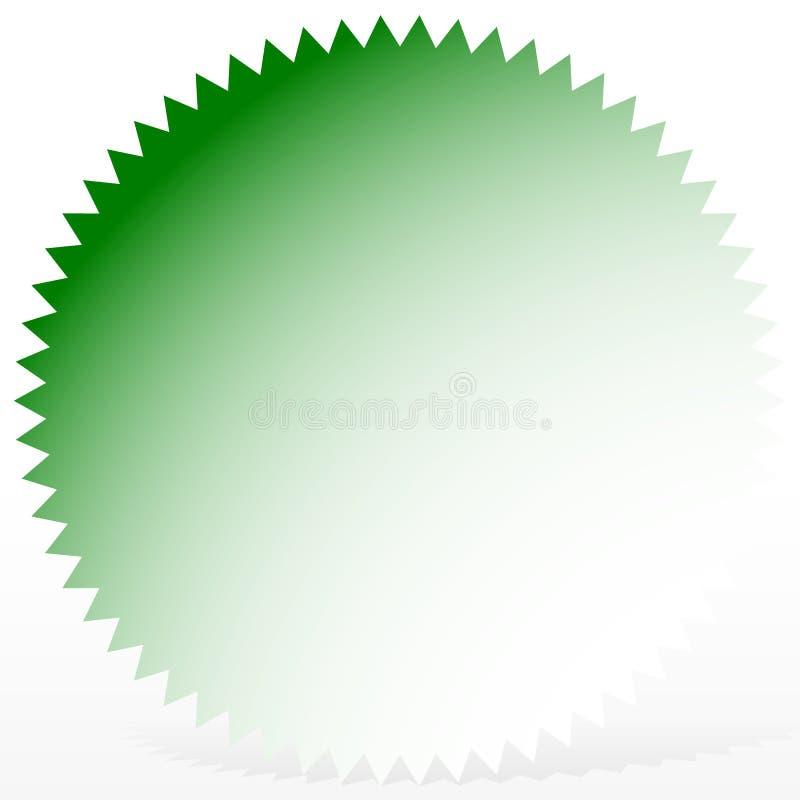 Φωτεινό διακριτικό, starburst μορφή με μόνο 1 χρώμα ελεύθερη απεικόνιση δικαιώματος