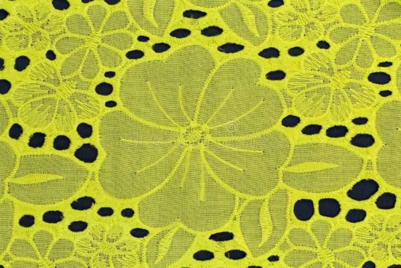 Φωτεινό κίτρινο υπόβαθρο υφάσματος στοκ φωτογραφία με δικαίωμα ελεύθερης χρήσης
