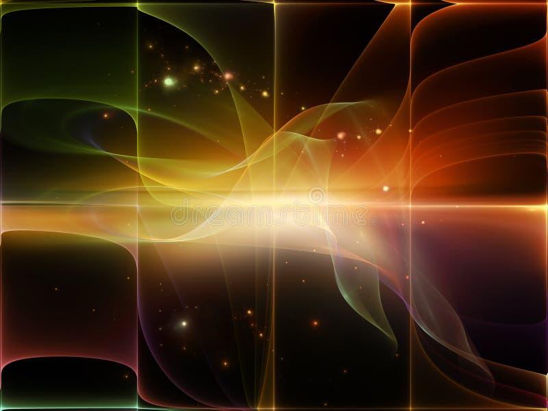 Φωτεινό κύμα διανυσματική απεικόνιση