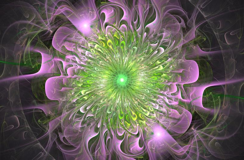 Φωτεινό λαμπρό και εξωτικό floral σχέδιο Όμορφο αφηρημένο λουλούδι διανυσματική απεικόνιση