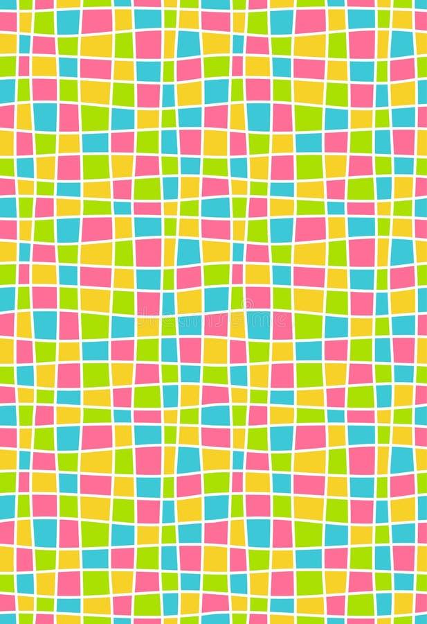Φωτεινό πολύχρωμο γεωμετρικό άνευ ραφής σχέδιο μωσαϊκών απεικόνιση αποθεμάτων