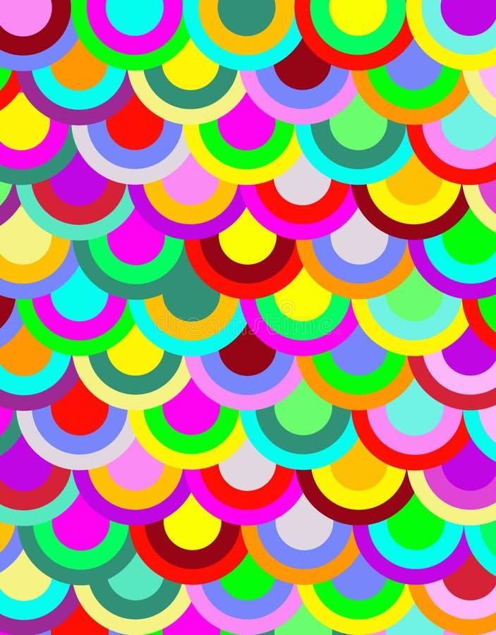 φωτεινό πρότυπο κύκλων απεικόνιση αποθεμάτων