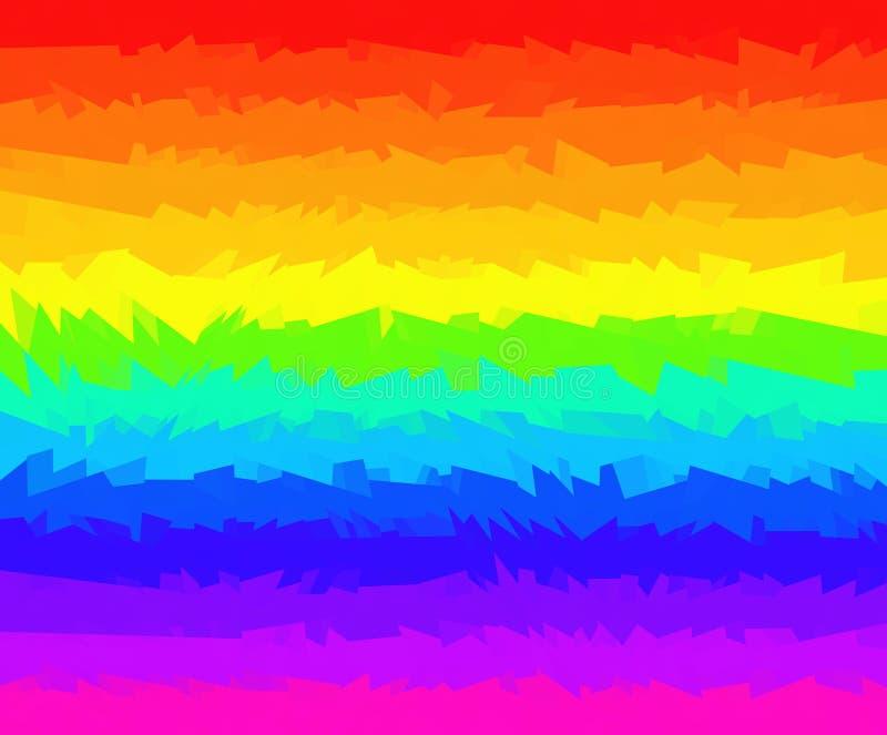 Φωτεινό ριγωτό υπόβαθρο των ζωηρόχρωμων γραμμών απεικόνιση αποθεμάτων