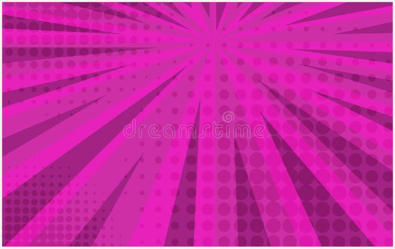 Φωτεινό ρόδινο ριγωτό αναδρομικό κωμικό υπόβαθρο ελεύθερη απεικόνιση δικαιώματος