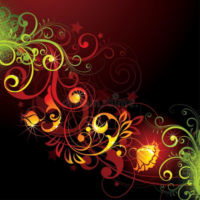 φωτεινό σχέδιο floral διανυσματική απεικόνιση