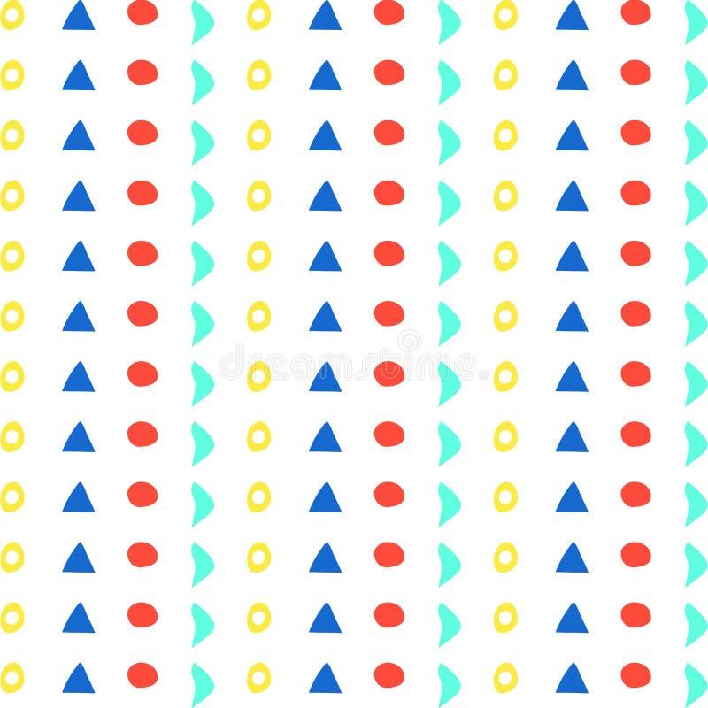 Φωτεινό υπόβαθρο, άνευ ραφής σχέδιο των διάφορων γεωμετρικών μορφών απεικόνιση αποθεμάτων