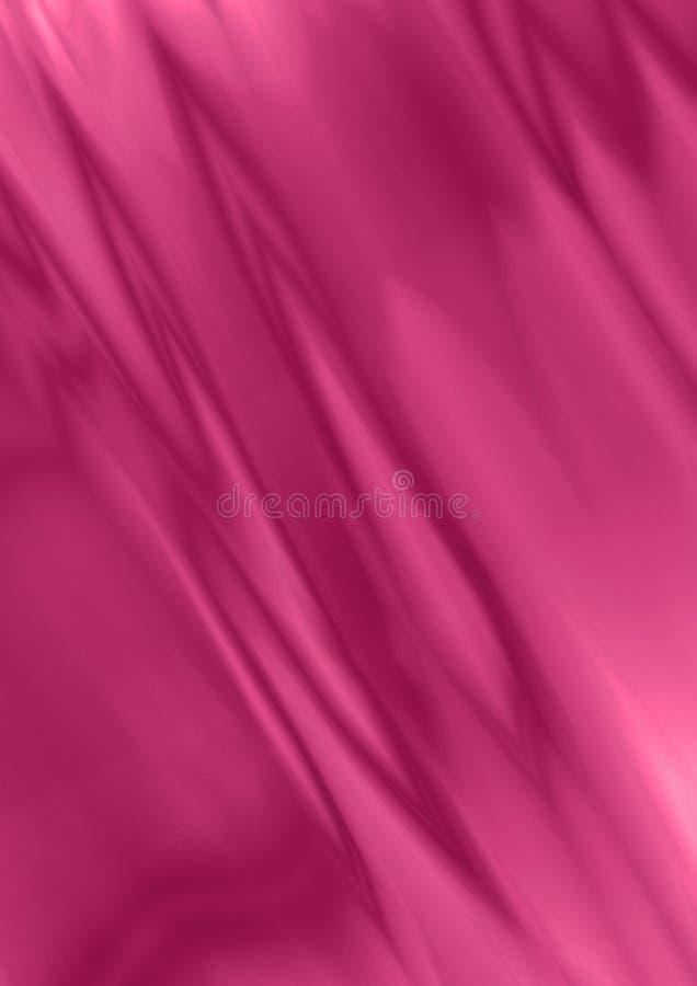 Φωτεινό υπόβαθρο σατέν με τις κυματιστές πτυχές των πορφυρών και ρόδινων λωρίδων που βρίσκονται διαγωνίως διανυσματική απεικόνιση