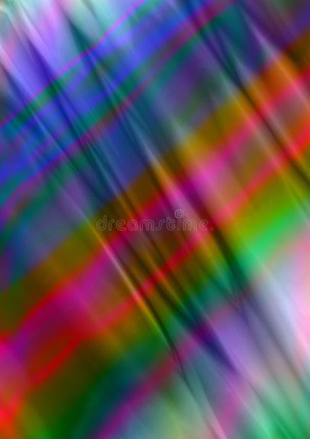 Φωτεινό υπόβαθρο σατέν με τις κυματιστές πτυχές των πορφυρών, κόκκινων, μπλε και πράσινων λωρίδων που βρίσκονται διαγωνίως απεικόνιση αποθεμάτων