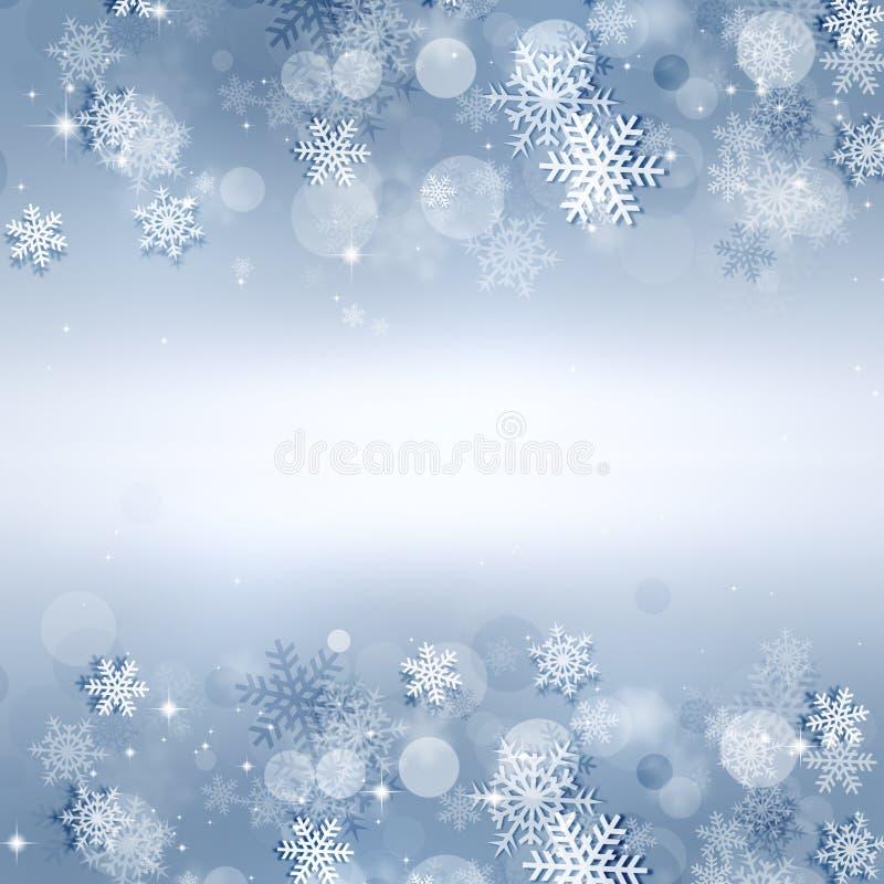 Φωτεινό υπόβαθρο χιονιού διακοπών απεικόνιση αποθεμάτων
