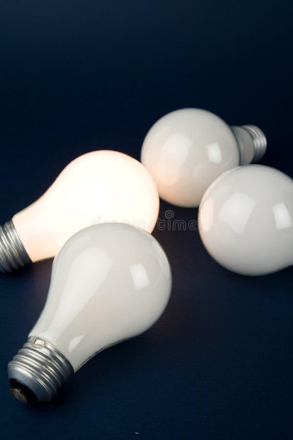 φωτεινό φως βολβών στοκ εικόνες