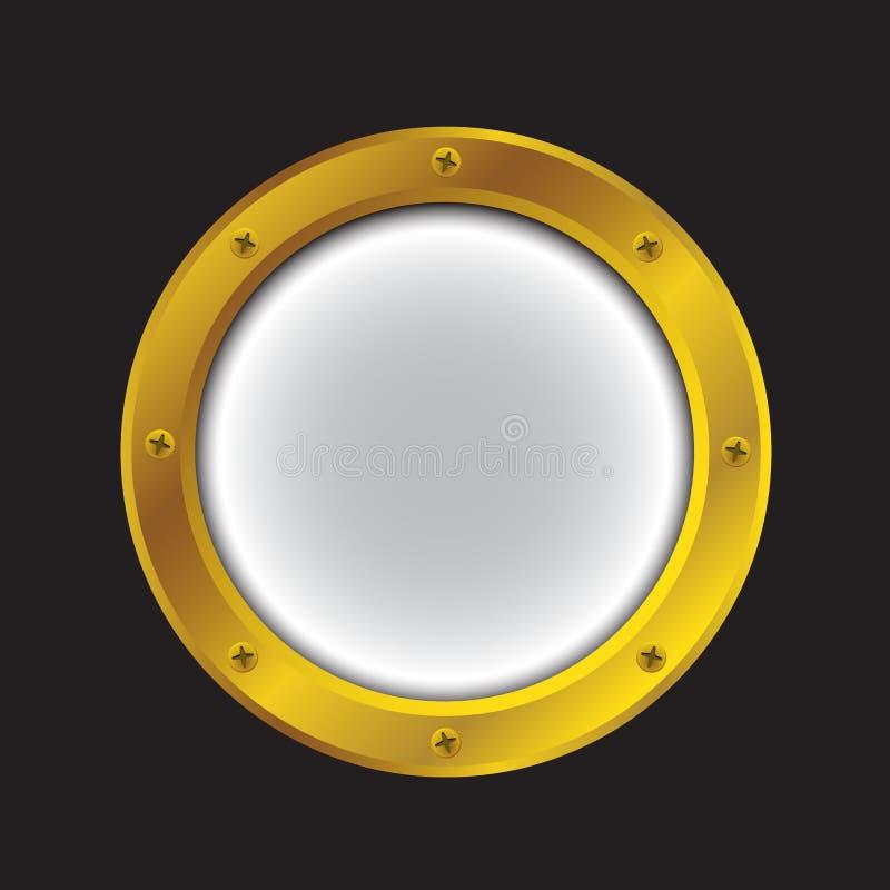 Φωτεινό χρυσό χρώμα παραφωτίδων απεικόνιση αποθεμάτων