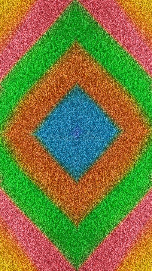 Φωτεινό χρωματισμένο κατασκευασμένο άνευ ραφής κεραμίδι διαμαντιών ελεύθερη απεικόνιση δικαιώματος