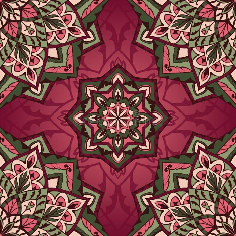 Φωτεινό tracery των mandalas διανυσματική απεικόνιση
