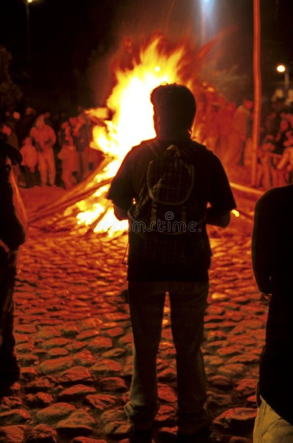 φωτιά Περού στοκ εικόνες