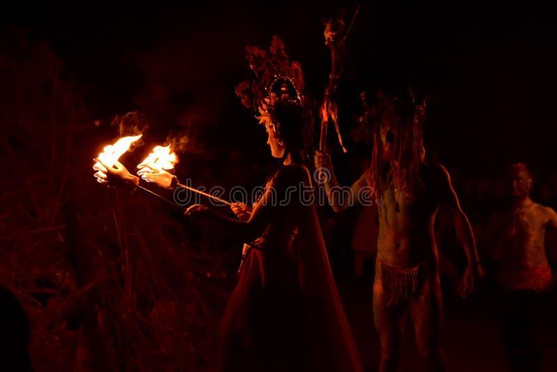 Φωτιά φεστιβάλ πυρκαγιάς Beltane στοκ εικόνες