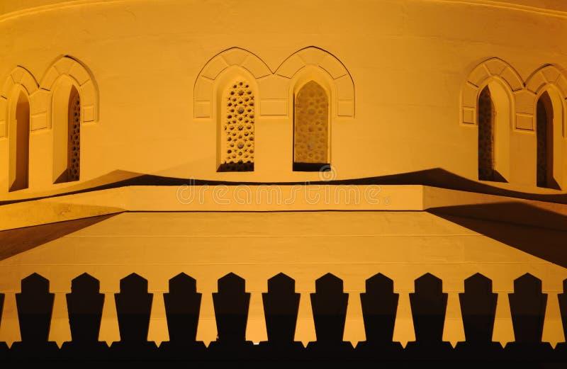 φωτισμένη νύχτα μουσουλμ&al στοκ φωτογραφία με δικαίωμα ελεύθερης χρήσης